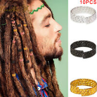 10pcs Hair Braid Dreadlock Beads Cuffs Rings Tube Hoop Circle Accessories New