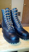 WHITE'S SMOKE JUMPER BOOTS size 9 NEW! Hathorn Fire Fighting Boots Steel toe