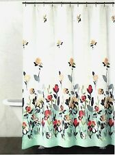 DKNY Watercolor Fields Fabric Shower Curtain In Aqua Coral