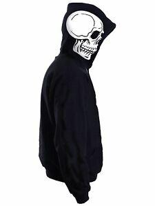 SKELETON SKULL & SPINE, cool graphic Mens Halloween Horror Hoodie