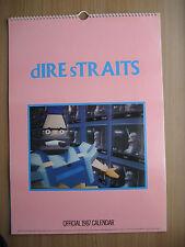 Vintage Dire Straits official Calendar 1987