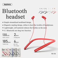 REMAX Neckband Bluetooth Earphone Wireless Headphone Sports Magnetic Headset US