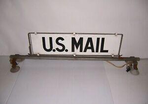 Vintage U.S. Mail Rural Postal Delivery Car Topper Metal Sign & Frame