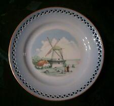 Porcelain Blue Plate HOLLAND Windmill DYBBOL MOLLE 3563 COPENHAGEN Denmark 616.5
