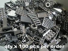 100+ Black LEGO Random Pieces from Huge Bulk Lot of Bricks Plates Assorted Etc