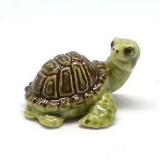 Ceramic Turtle Figurine Mini Porcelain Miniature Collectible Animal Aquarium