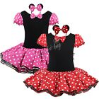 Girls Kids Minnie Mouse Halloween Party Costume Ballet Dance Dress Tutu Skirt