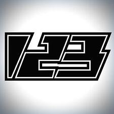 3x Custom Race Numbers Lightning Style Vinyl Stickers Dirt Bike Motocross Decals