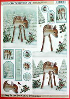 "A4 DIE CUT 3D PAPER TOLE DECOUPAGE ""CHRISTMAS"" SHEET NO CUTTING EASY DCD551"
