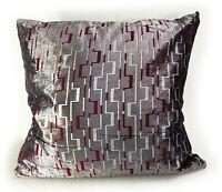 """Velvet Matrix Design Scatter Cushions or Covers In 4 Lovely Colours 21""""X21""""53X53"""