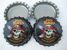 100 Jack Black (New unused bottle cap crowns) Free S&H-Soda/Beer category