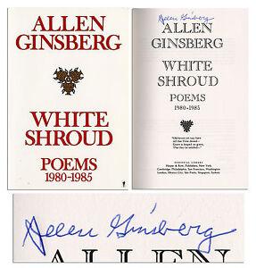 Allen Ginsberg Signed Book of Poetry, ''White Shroud''