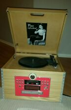 New listing Coca-Cola Record Player Turntable Cd Radio Clock - As Is
