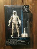"Star Wars Black Series Prototype White Boba Fett Blue Line 6"" Figure"