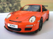 PERSONALISED PLATE Orange 2010 Porsche 911 Toy Car Boys Dad Model Birthday Gift