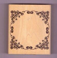 94093-X Flower Frame Wooden Rubber Stamp - Inkadinkado