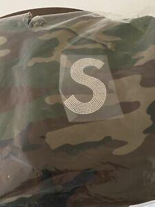"""Supreme Swarovski S Logo Hoodie """"Woodland Camo"""""""