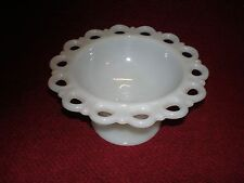 Vintage Milk Glass Fruit Bowl or Candy Dish