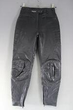 ASHMAN BLACK COWHIDE LEATHER BIKER TROUSERS SIZE 14:WAIST 30 IN/INSIDE LEG 30 IN