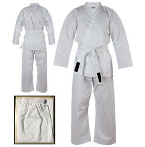 Karate Uniform for Kids and Adults Karate Gi Martial Arts kimono Free Belt White