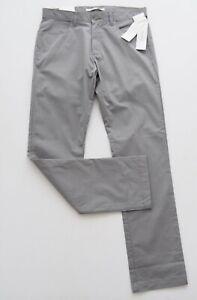 CALVIN KLEIN Mens Grey Pants W30 x L32 CONVOY Slim Fit Mid Rise RRP $99.95 NWT