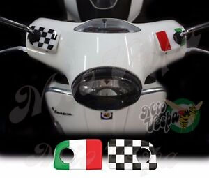 Italian flag S Handlebar pump covers overlay 3D Decals sticker Vespa GTs 250 300