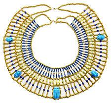 HandMade Multi Beaded Cleopatra  Scarab Necklace Collar Christmas Halloween  234
