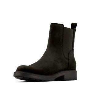 Women's Clarks Orinoco 2 Chelsea Boots Black Leather Size 3E. RRP £89.00