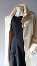 Summer Trench Coat sz 10 12 14 PERRY ELLIS Long Cream Belted Raincoat Career