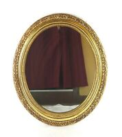 Vintage Mid Century 1960's Oval Gold Toned Mirror Original Syroco Frame NuTone