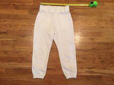 Boys EASTON white baseball pants size Youth Large YL