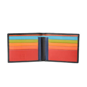 Mens wallet card holder case in leather colored with 8 pockets DUDU