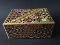 Japanese Yosegi Puzzle Box Samurai Himitsu Wooden Magic Trick Box 21 Step HK-125