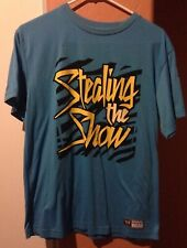Authentic WWE DZ Dolph Ziggler Stealing the Show Adult Med Blue TShirt WWF WCW