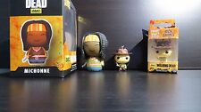 The Walking Dead Rick Grimes Pocket Funko POP Key Chain + Dorbz Michonne New TV