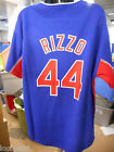 Majestic MLB Boys Youth Chicago Cubs Anthony Rizzo Team Leader Jersey NWT XL