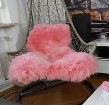 Oveja fell cordero rosa rosa 130cm Dick aterciopelada XXL sofá columpio sillón de cuero