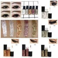 Waterproof Metallic Shiny Eyeshadow Glitter Liquid Eyeliner Pen Makeup Cosmetic