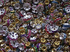 *CLEARANCE* 20g Assorted Silver Gold Rhinestone Spacer Beads *CLEARANCE*