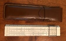 LAFAYETTE F-340 ENGINEERING BAMBOO SLIDE RULE with LEATHER CASE Made in JAPAN