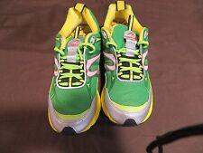 Newton Terra Momentum Running Shoes Stability Sz 8.5 Green Yellow 02310