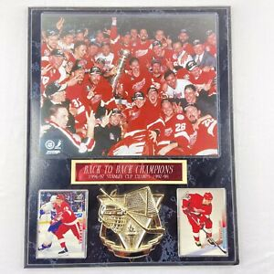 """Detroit Red Wings Vintage 1997 Stanley Cup Champions Black Marble Plaque 15""""x12"""""""