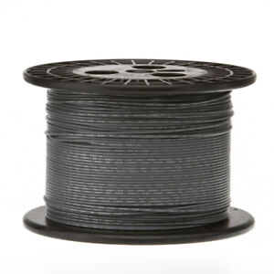 """18 AWG Gauge Stranded Hook Up Wire Gray 500 ft 0.0403"""" UL1015 600 Volts"""