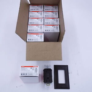 Pack of 10 Pass & Seymour Brown Radiant Legrand 15A 125VAC 60Hz SelfTest Outlet