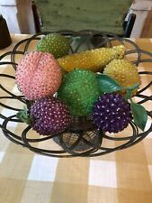 7 Wonderful Vintage Decorative Jeweled /Beaded Fruit!!