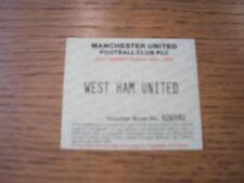 15/10/1994 Ticket: Manchester United v West Ham United [Adult Season Ticket Vouc