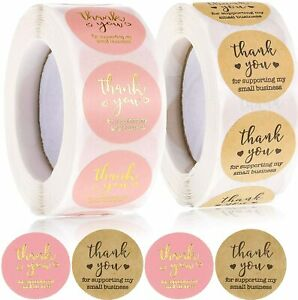 Thank You For Supporting My Small Business Stickers Seals Labels Craft Gift Food