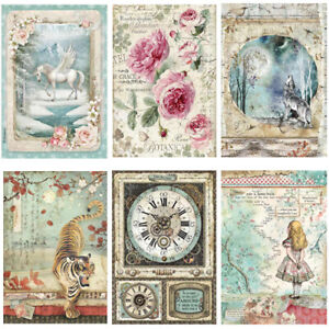Stamperia Collection B - Decoupage Rice Paper A4 Sheet - VARIOUS DESIGNS