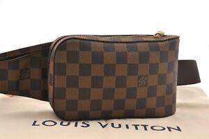 Authentic Louis Vuitton Damier Geronimos Shoulder Bag Body Bag N51994 LV A8537
