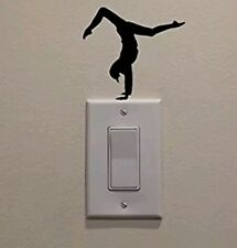 Gymnastic Handstand light switch decal sticker girl fitness home decor